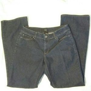 Ann Taylor 6 Curvy Dark Wash Bootcut Jeans